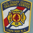 United States Coast Guard Cape May Training Center Fire Patch