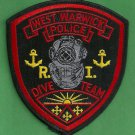West Warwick Rhode Island Police Dive Team Patch