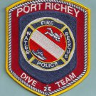 Port Richey Florida Police Fire Dive Team Patch