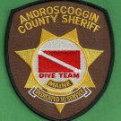 Androscoggin County Sheriff Maine Police Dive Team Patch