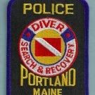 Portland Maine Police Dive Team Patch