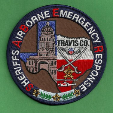 Travis County Sheriff Texas Search & Rescue Helicopter Air Unit Police Patch