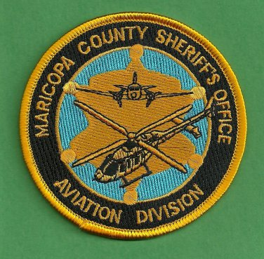 Maricopa County Sheriff Arizona Helicopter Air Unit Police Patch
