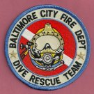 Baltimore Maryland Fire Dive Team Patch