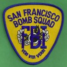 FBI San Francisco California Police Bomb Squad Patch