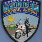 Suprise Arizona Police Motorcycle Patch