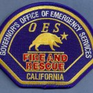 California Office of Emergency Services OES Fire Rescue Patch