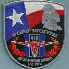Fort Worth Texas Fire Arson Investigator Patch