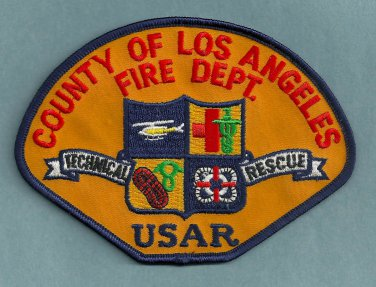 Los Angeles County California USAR Urban Search/Rescue Fire Patch