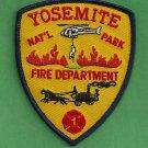 Yosemite National Park California Fire Rescue Patch