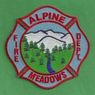 Alpine Meadows California Fire Patch