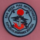San Diego California Explosive Ordnance Disposal Fire Patch