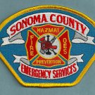 Sonoma County California Fire Patch