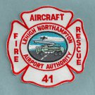Lehigh Northampton Regional Airport Authority Fire Rescue Patch ARFF