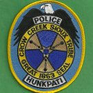 Crow Creek Sioux South Dakota Tribal Police Patch