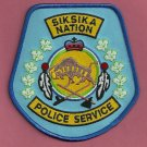 Siksika Nation Canada Tribal Police Patch