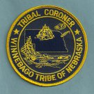 Winnebago Nebraska Tribal Coroner Police Patch