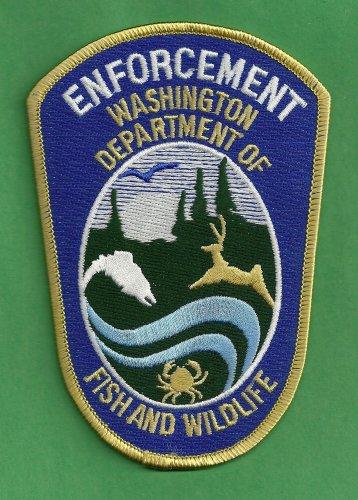 Washington state fish wildlife enforcement police patch for Washington fish and wildlife