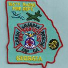 Savannah 165th Georgia Air National Guard Crash Fire Rescue Patch