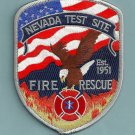 Nevada Nuclear Test Site Fire Rescue Patch