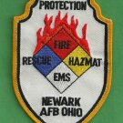 Newark Air Force Base Ohio Crash Fire Rescue Patch