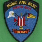 Muniz Puerto Rico Air National Guard Crash Fire Rescue Patch