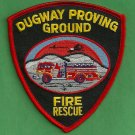 Dugway Proving Ground Utah Fire Rescue Patch
