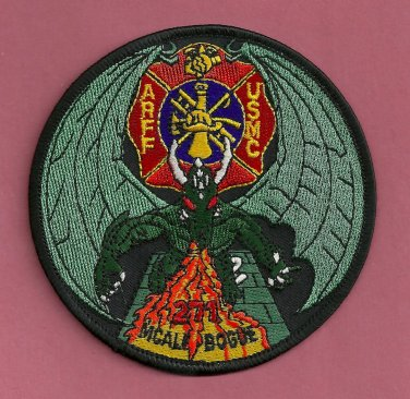 Bogue Field Marine Corps Air Station North Carolina Crash Fire Rescue Patch