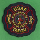 Taegu Air Force Base South Korea Crash Fire Rescue Patch