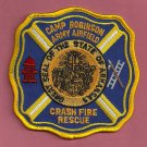 Camp Robinson Arkansas Army Airfield Crash Fire Rescue Patch