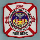 Hurlburt Air Force Base Florida Crash Fire Rescue Patch