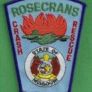 Rosecrans Missouri Air National Guard Crash Fire Rescue Patch