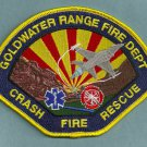 Goldwater USAF Bombing Range Arizona Crash Fire Rescue Patch