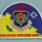 Harrisburg USAF 193rd Special Operations Group Fire Rescue Patch