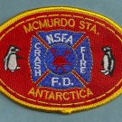 Antarctica McMurdo NSFA Naval Station Fire Rescue Patch