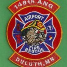 Duluth 148th Minnesota Air National Guard Crash Fire Rescue Patch