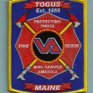 Togus V. A. Hospital Maine Fire Rescue Patch