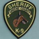 Green County Sheriff Georgia Police K-9 Unit Patch