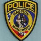 Mauston Wisconsin Police K-9 Unit Patch