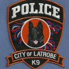 Latrobe Pennsylvania Police K-9 Unit Patch