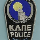 Kane Pennsylvania Police Patch
