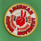 "AIM American Indian Movement ""Remember Wounded Knee"" Patch"