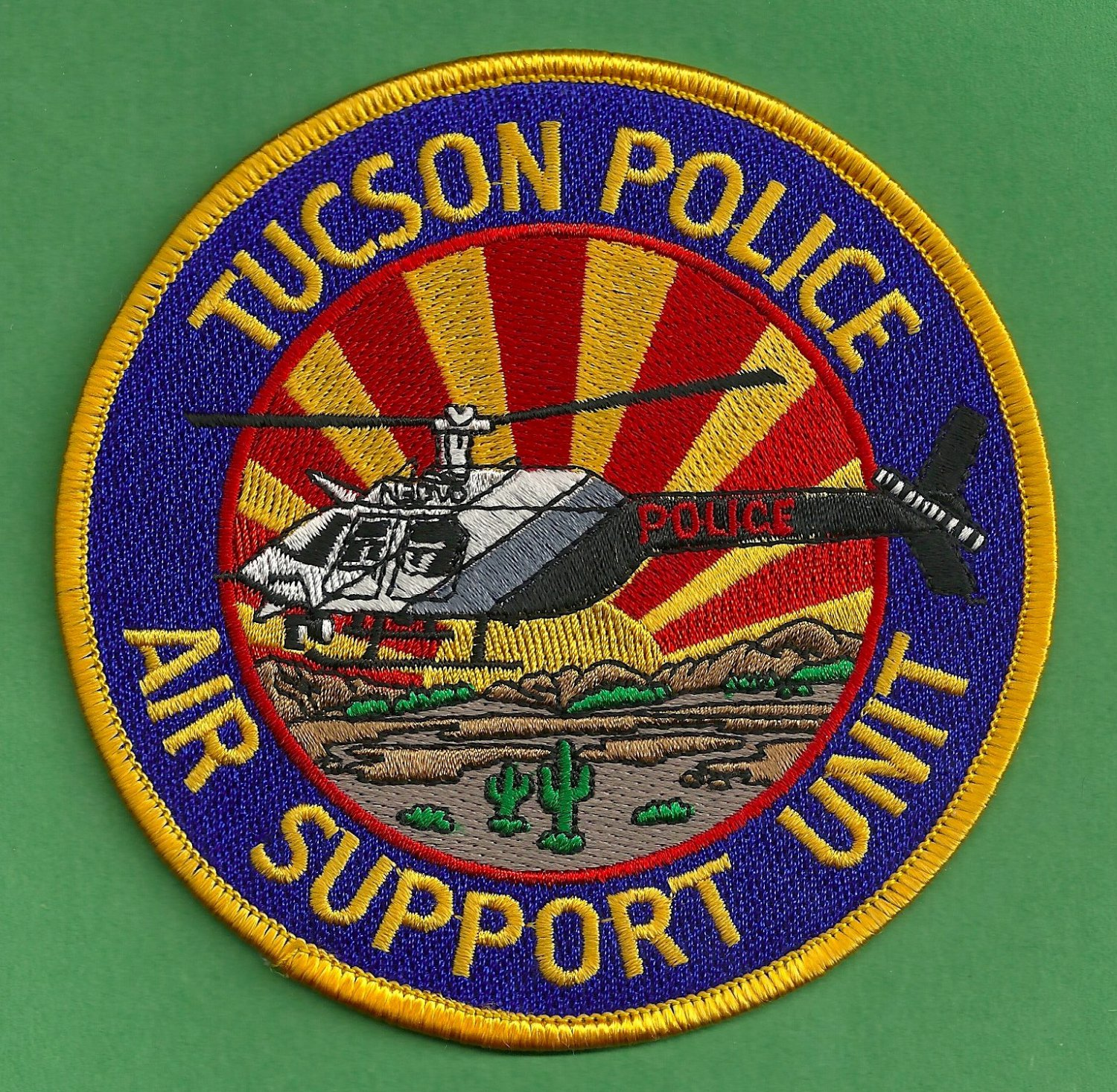 Tucson Arizona Police Helicopter Air Unit Patch