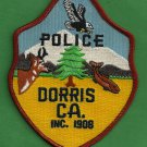 Dorris California Police Patch