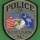 West Union South Carolina Police Patch