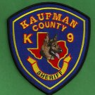 Kaufman County Sheriff Texas Police K-9 Unit Patch
