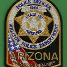 Wellton Arizona Police Patch