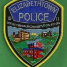 Elizabethtown Pennsylvania Police Patch