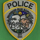 Warrior Run Pennsylvania Police Patch