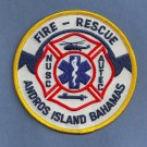 Andros Island Bahamas U.S. Naval Submarine Base Fire Rescue Patch